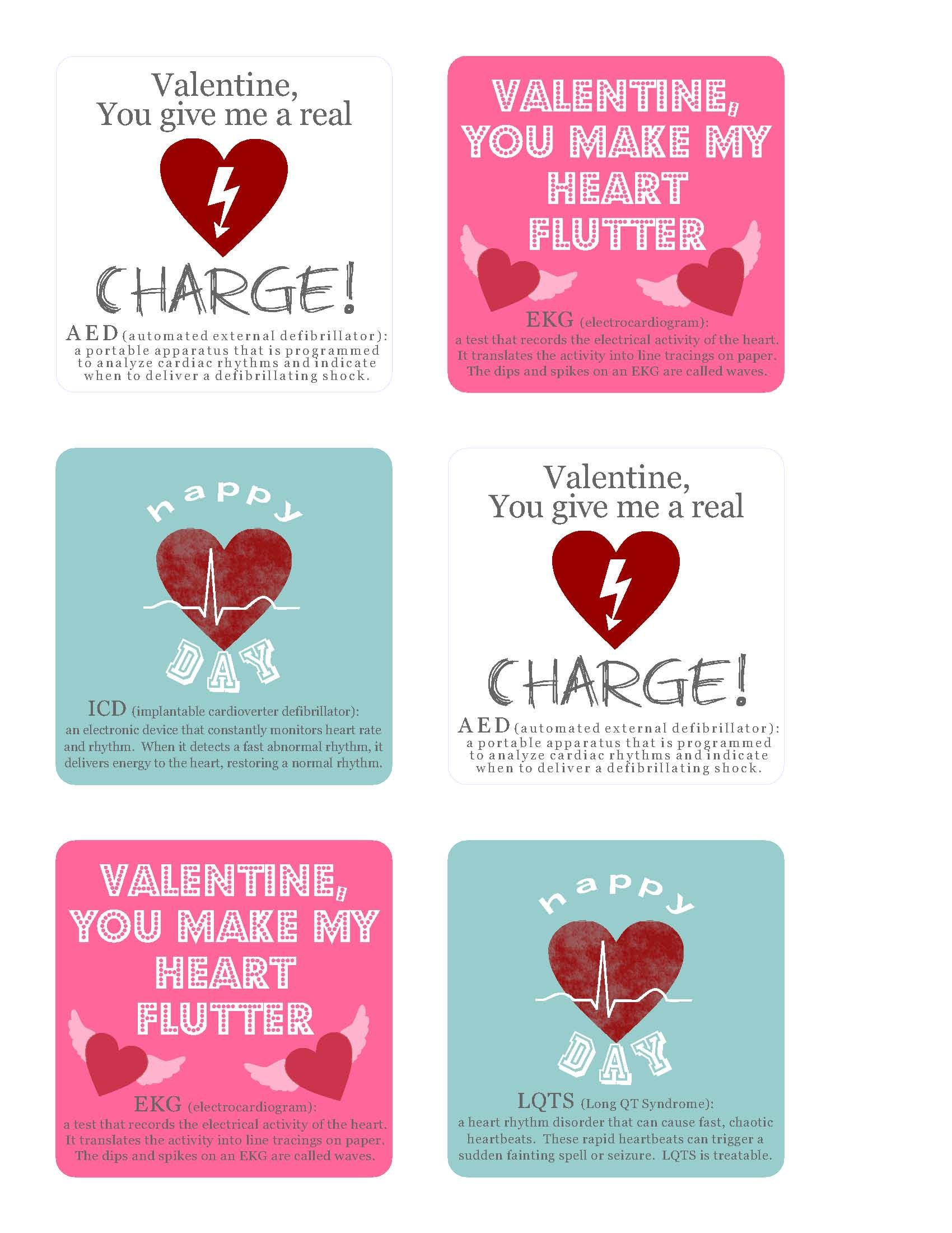 Fabulous Long QT/Heart Rhythm valentines! to my little sister cuz i ...