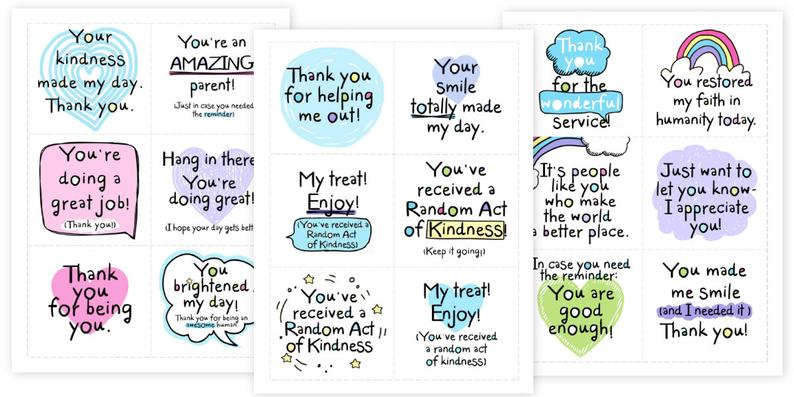 Printable Random Acts Of Kindness Cards Raok Pay It Etsy In 2021 Random Acts Of Kindness Kindness Card Template