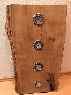 Led Decken Holz Lampe Eiche Rustikal 80cm 4x 7w Massivholz