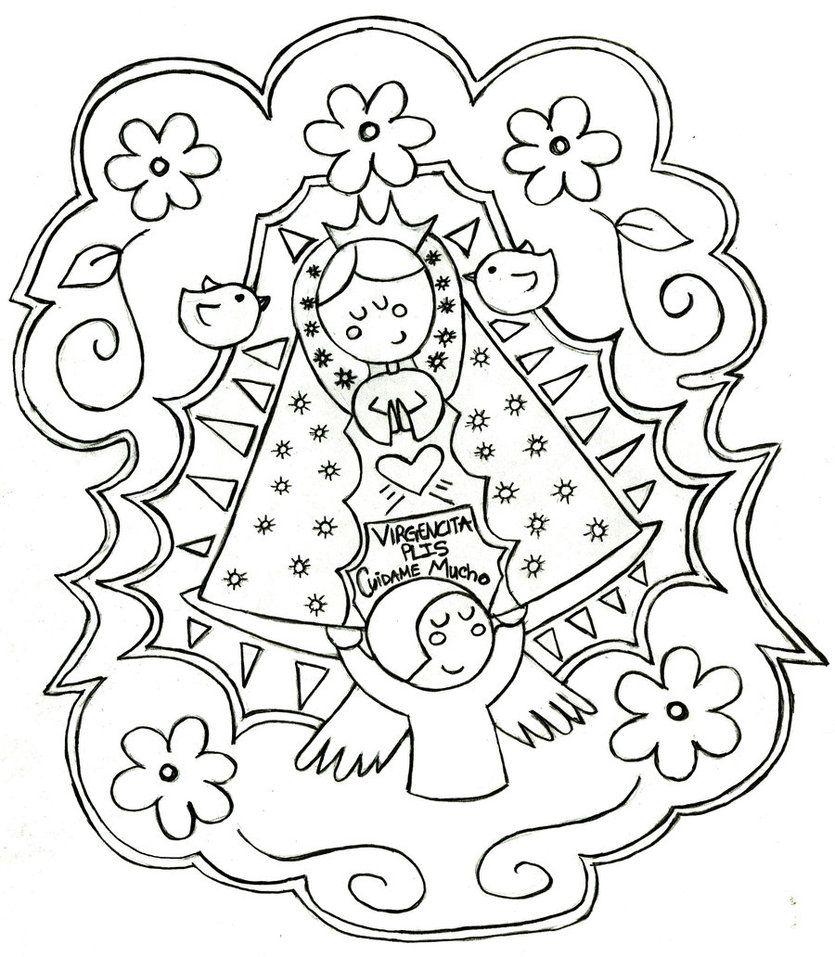 Dibujos De La Virgen De Guadalupe Para Colorear Dibujos Para