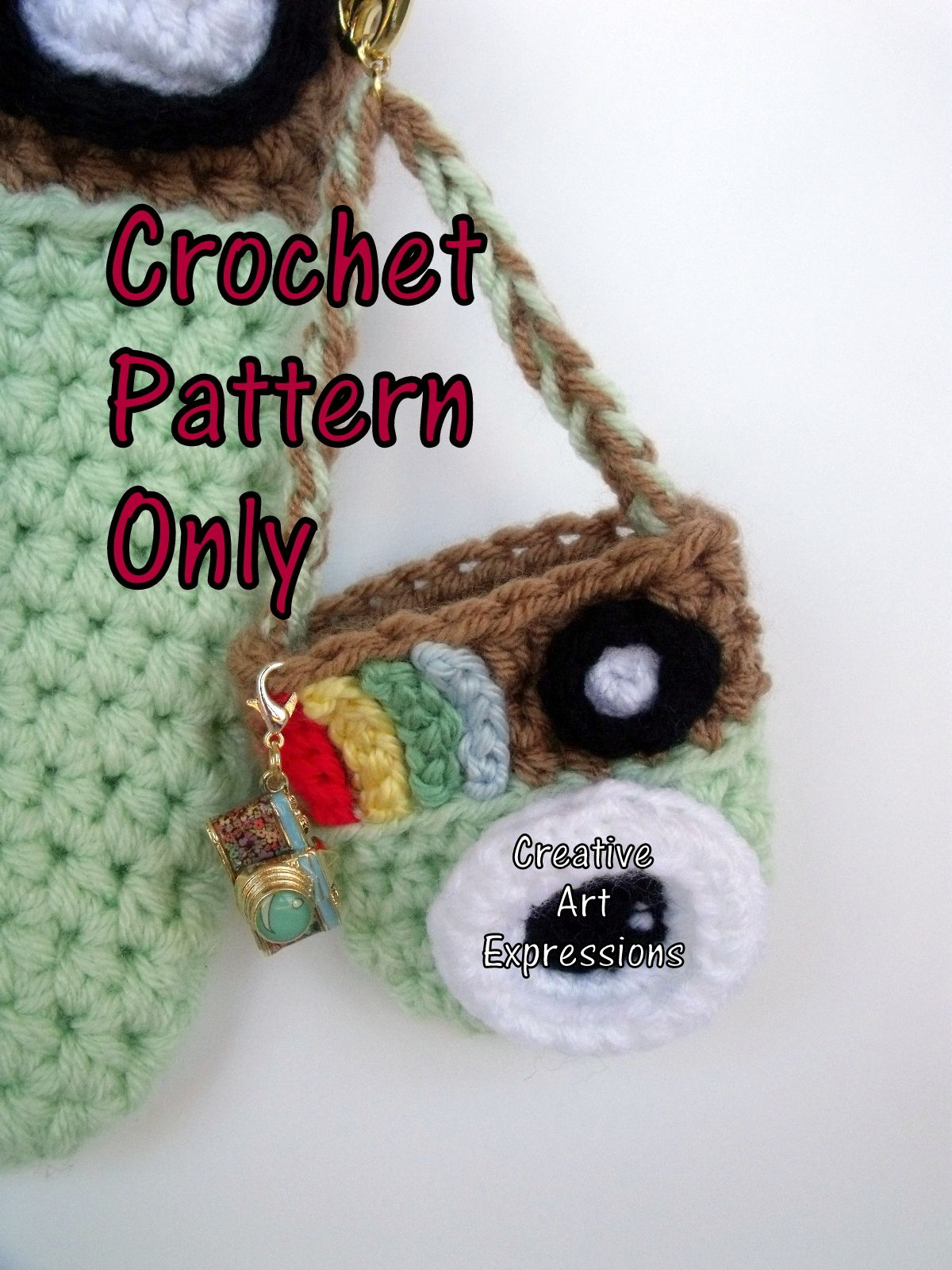 Camera Purse & Miniature Camera Purse Crochet Pattern #camerapurse