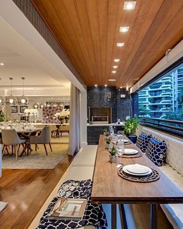 Varanda Gourmet Por Carla Felippi _ #decor #decoracao #detalhes #details  #desing