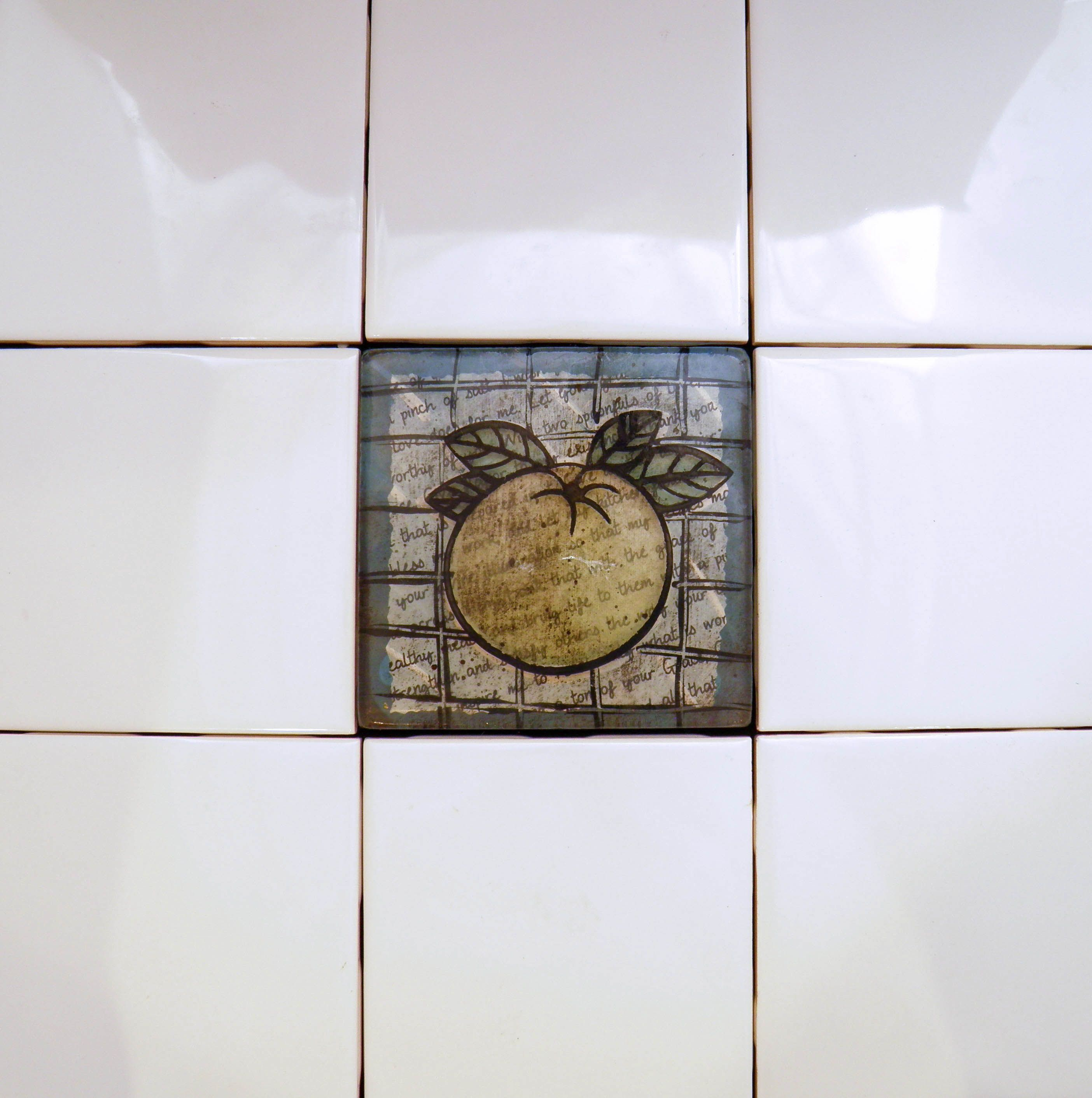 """Mixed Media Stained Glass 4"""" x 4"""" wall tiles kitchen backsplash"""