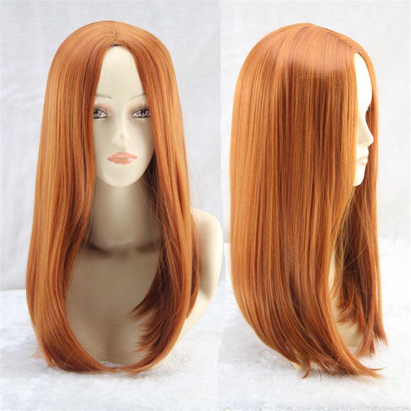 Aliexpress.com  Comprar The Avengers traje pastel ombre peluca a prueba de  calor sintética pelucas naranja peluca pelucas cosplay… e560cd994c4e