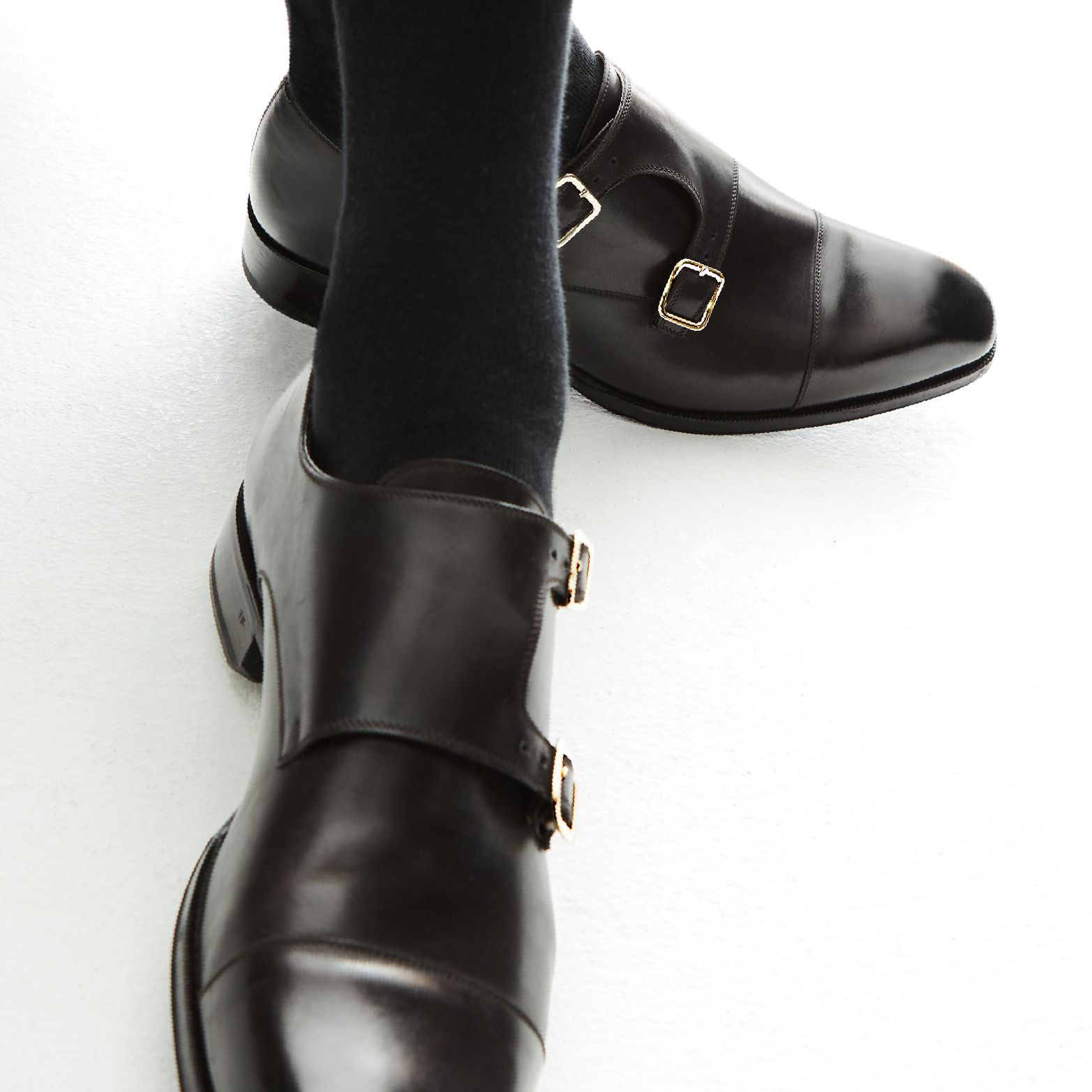9bf80f06d41ff An essential shoe – a classic double-buckle monk strap style shoe featuring  the Elkan Double Monk Straps. #TOMFORD