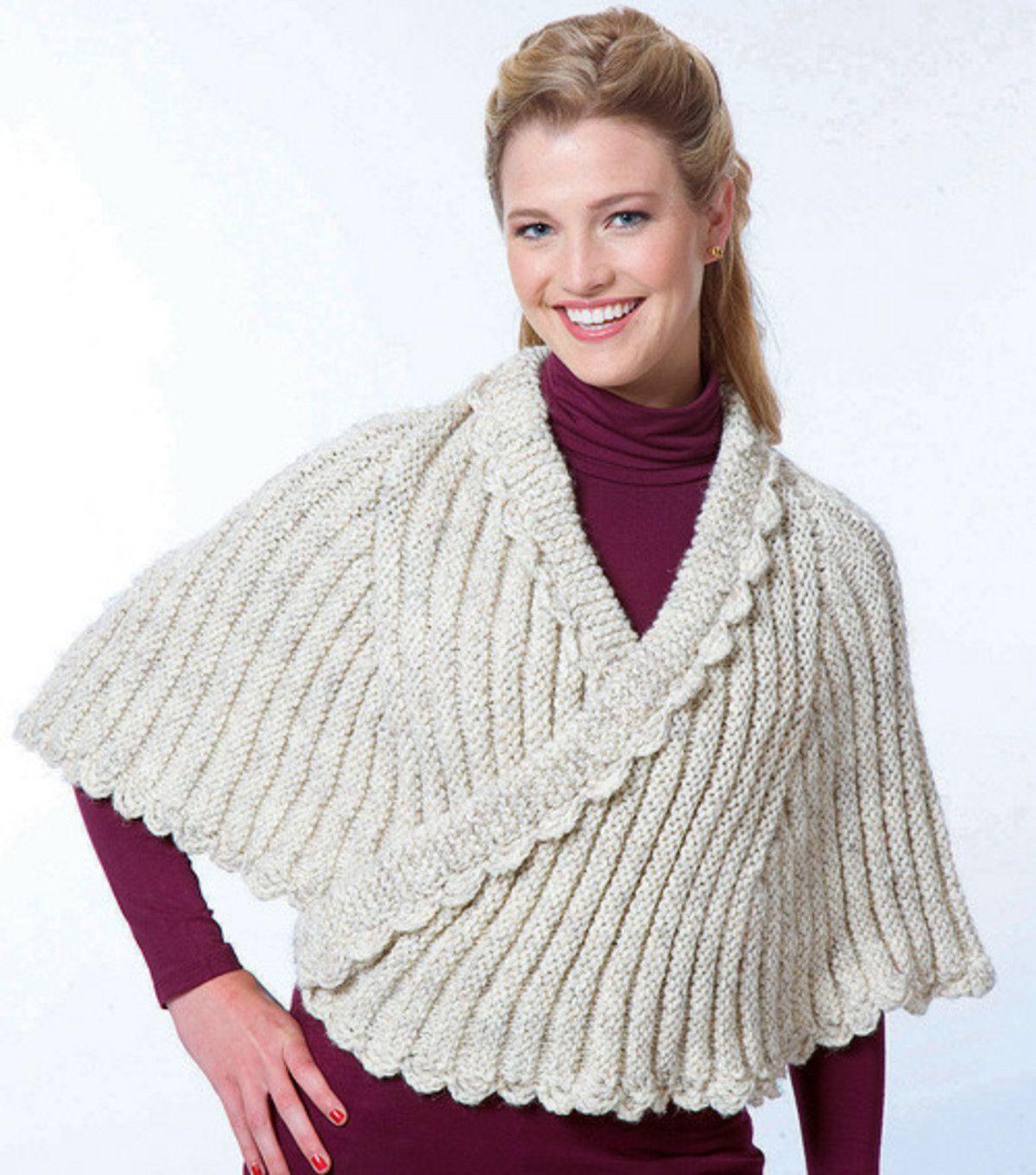 Wrap-Around Capelet | ponchos crochet y dos agujas | Pinterest ...