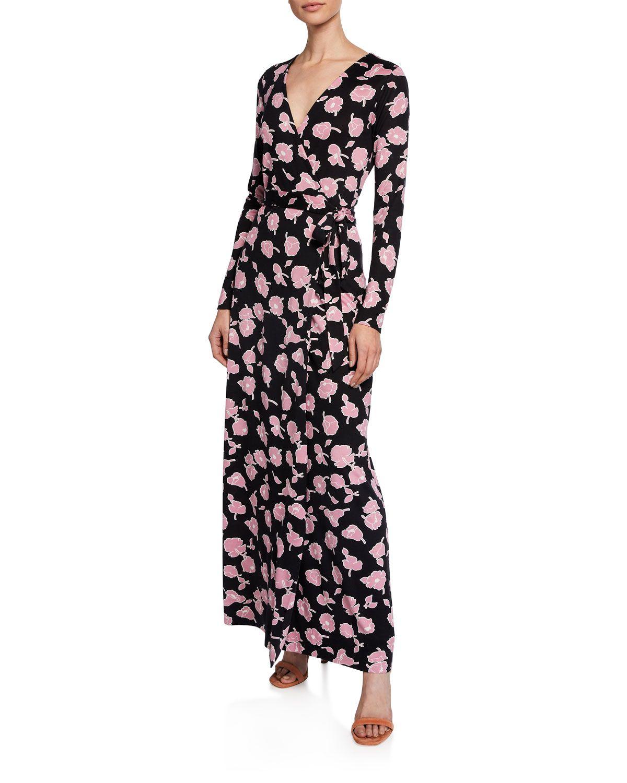 Diane Von Furstenberg New Julian Long Floral Print Long Sleeve Wrap Dress Long Sleeve Wrap Dress Diane Von Furstenberg Wrap Dress Dresses [ 1500 x 1200 Pixel ]