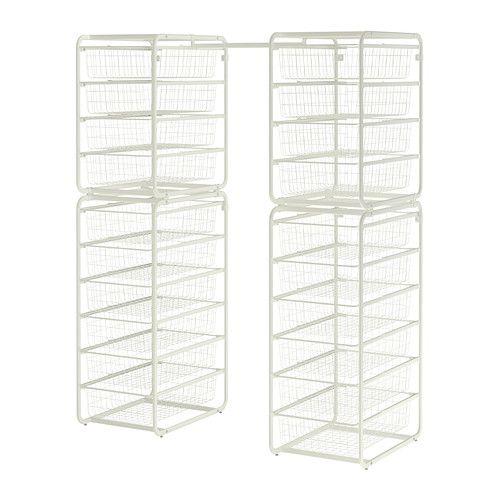 ALGOT Runko/ritiläkorit/tanko IKEA ALGOT-sarjan osia voi yhdistää monin eri tavoin, ja niistä on helppo luoda omiin tarpeisiin sopiva kokonaisuus.