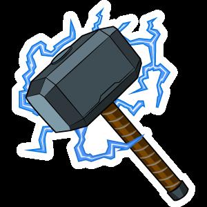 Thor Mjolnir Hammer With Lightning Bolts Hammer Drawing Mjolnir Tattoo Lightning Art