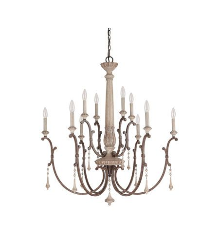 Capital Lighting Chateau 10 Light Chandelier in French Oak 4090FO #lighting