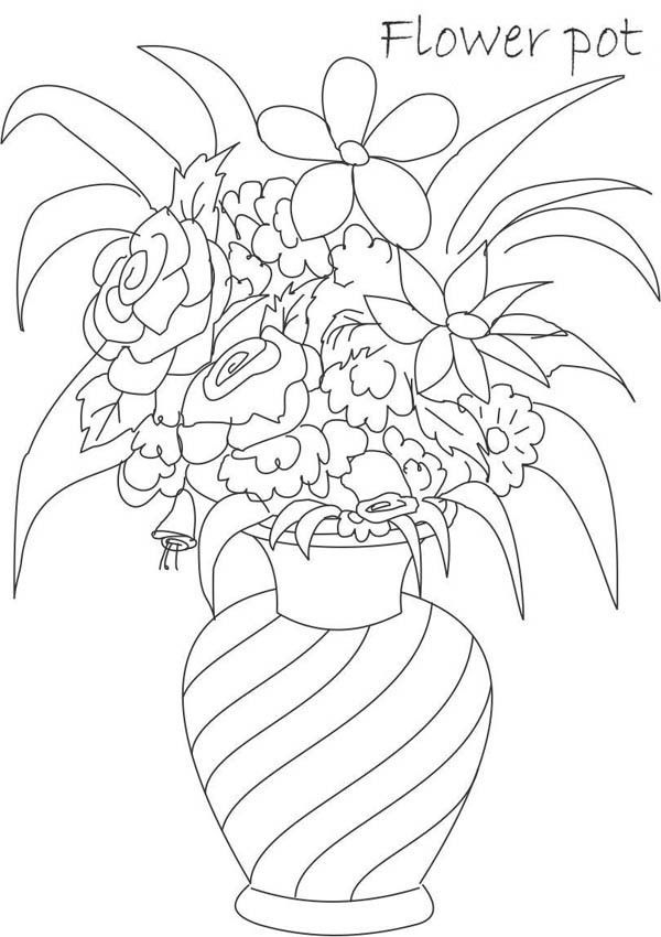 Dibujos Para Colorear Floreros 20 Dibujos Florero Dibujo