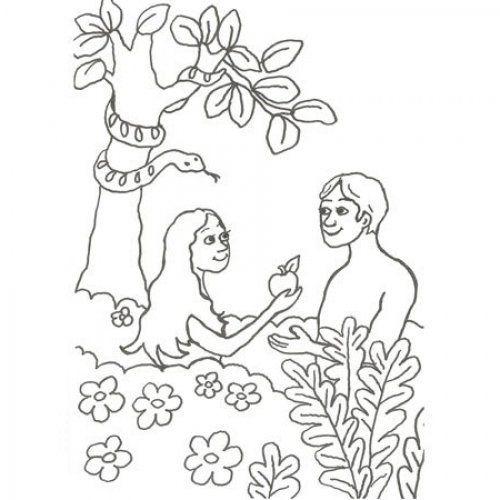 Desenho De Adao E Eva Para Colorir Desenhos Biblicos Para