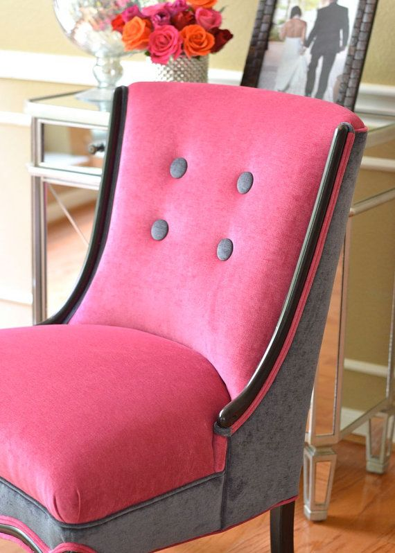 wow! this is inspiring... a reupholstered Slipper Accent Chair New Upholstery by parsonsparlo