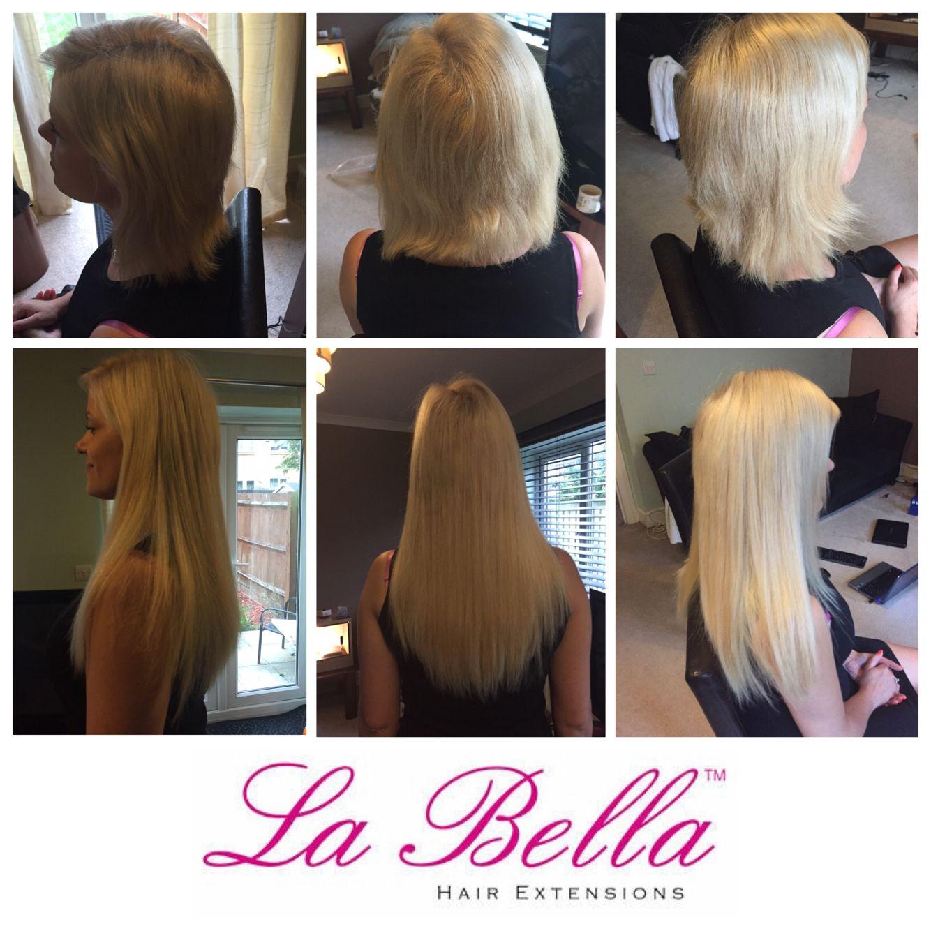 Full Head 14 European Hand Made La Bella Nano Ring Hair Extensions