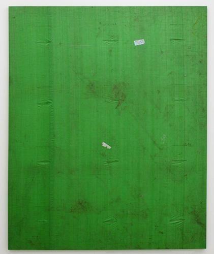 Aaron Bobrow: Big Green 2011 Tarp 188 x 134.6 cm