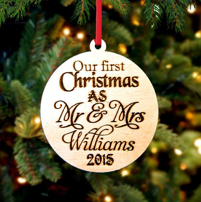 Personalized Christmas Ornament ~ Mr Mrs Williams- Christmas Gift