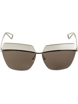 fbe6368fc6b Christian Dior. Dior metallic square sunglasses ...
