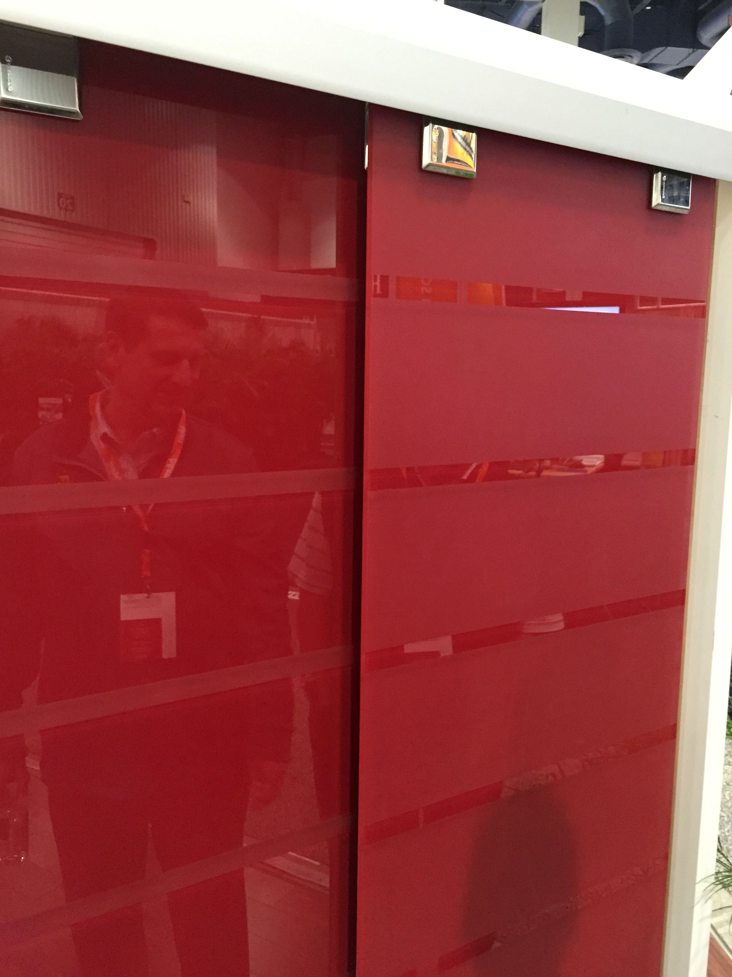 custom red backpainted etched glass used in sliding door application rh pinterest com