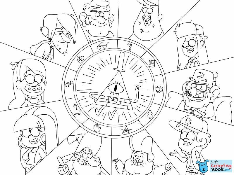 Gravity Falls Wheel Character Symbolslokamie Throughout Little Dipper And Lucky Coloring Pages Gravity Falls Characters Gravity Falls Book Gravity Falls Art
