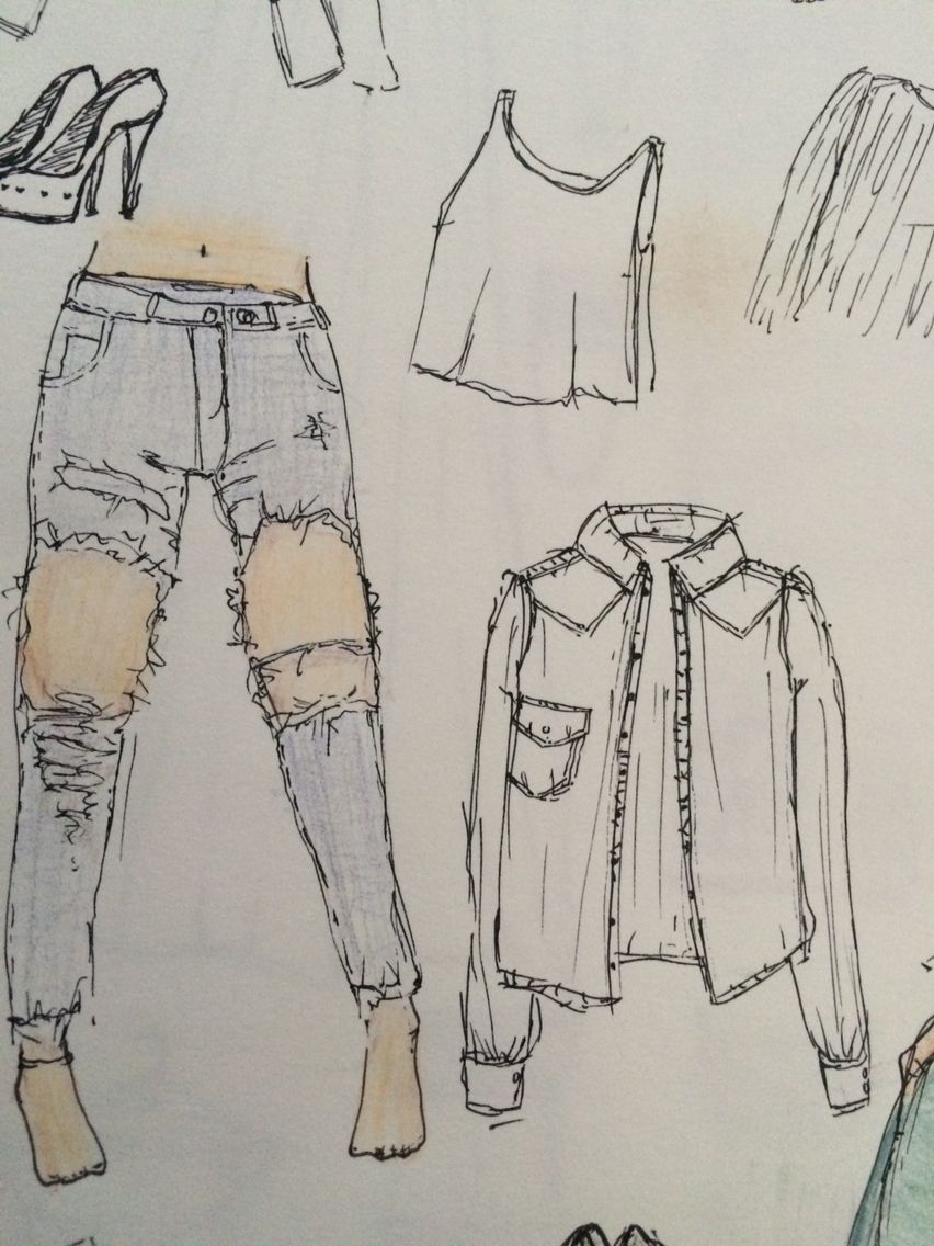 How To Draw Ripped Jeans Easy
