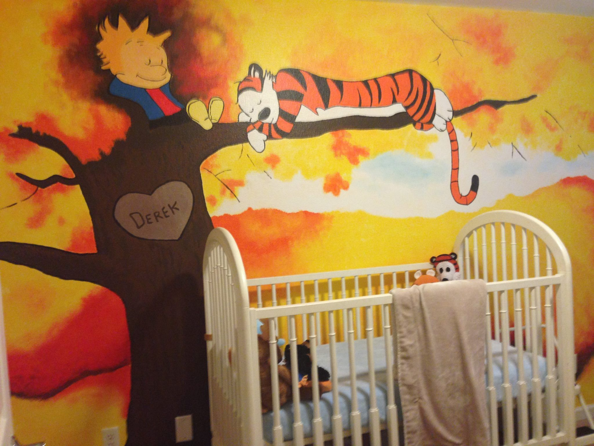 Calvin and Hobbes nursery mural | good projects | Pinterest