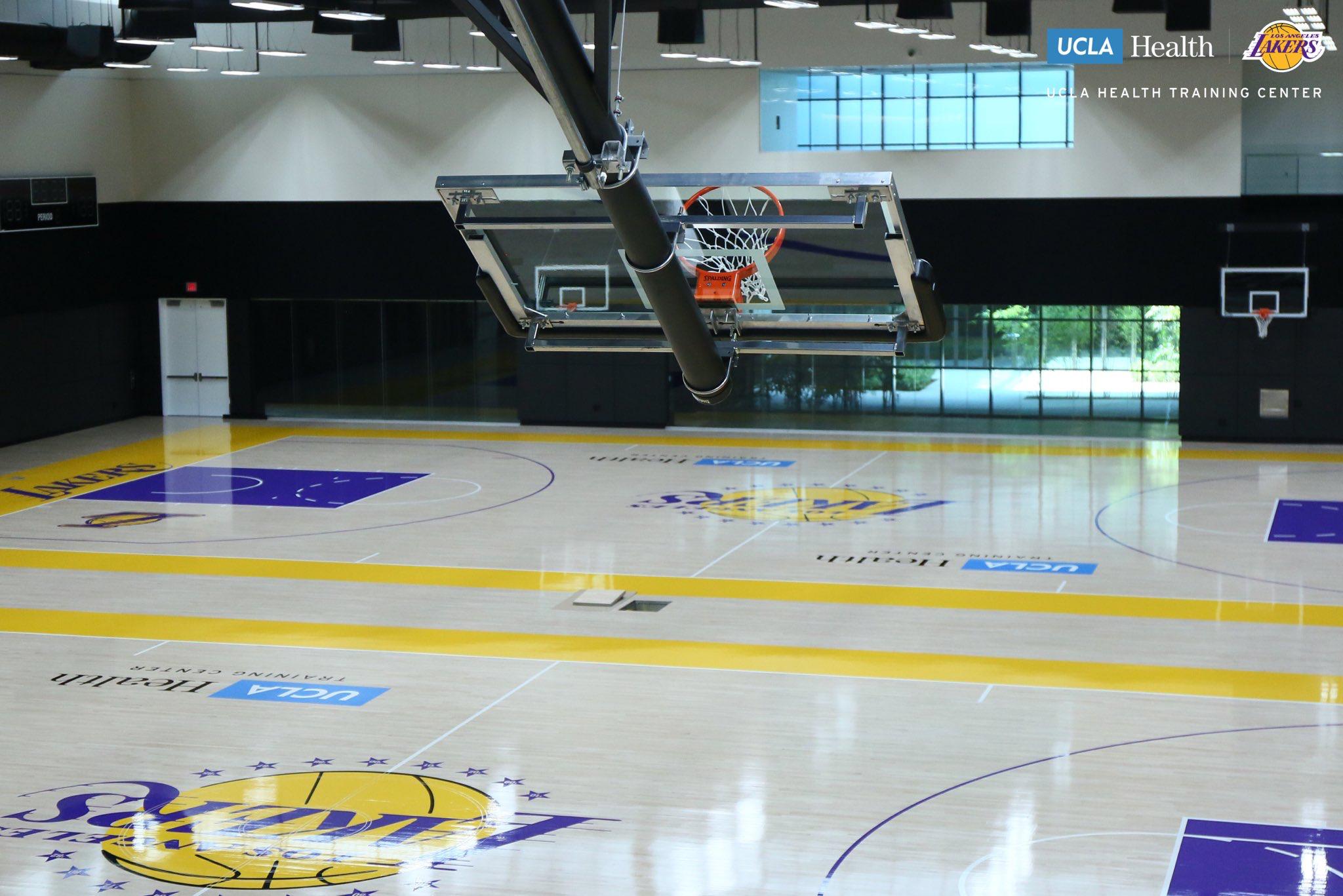 Lakers New Practice Gym Basketball Court Basketball Basketball Wall