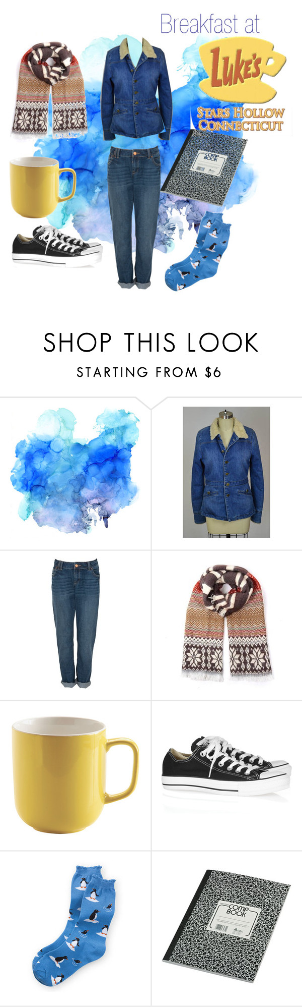 """""""2 X 16 There's the Rub - Rory 2 - Gilmore Girls"""" by faedissey on Polyvore featuring Earl Jean, Converse et gilmoregirls"""