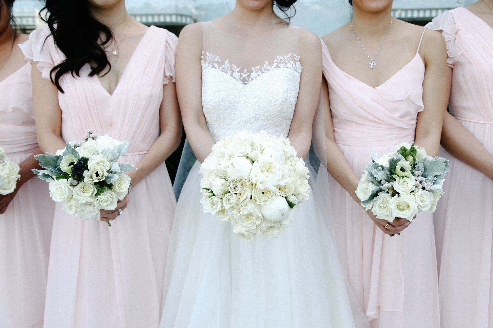 A real vow wedding love seeing our bride catheys bridesmaids in wedding dress ombrellifo Choice Image