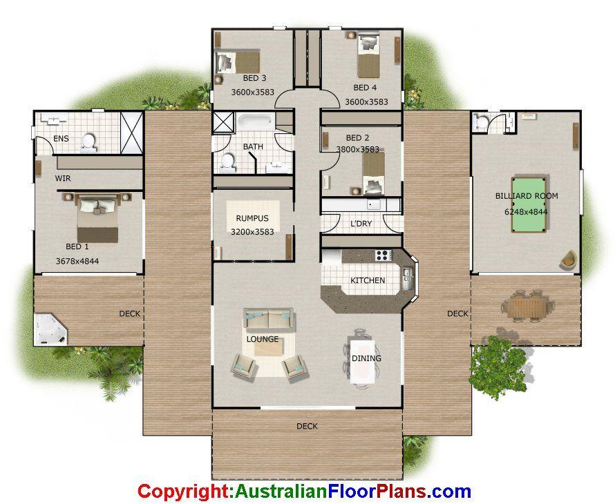 Pavilion House Floor Plan Plans