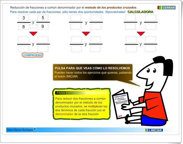 Reducción De Fracciones A Común Denominador Actividad Interactiva De Matemáticas De Primaria Fracciones Matematicas Interactivas Actividades Interactivas