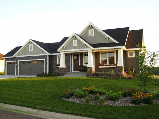 New Construction Vision Homes Rochester Mn House Exterior Ranch House Exterior House Paint Exterior