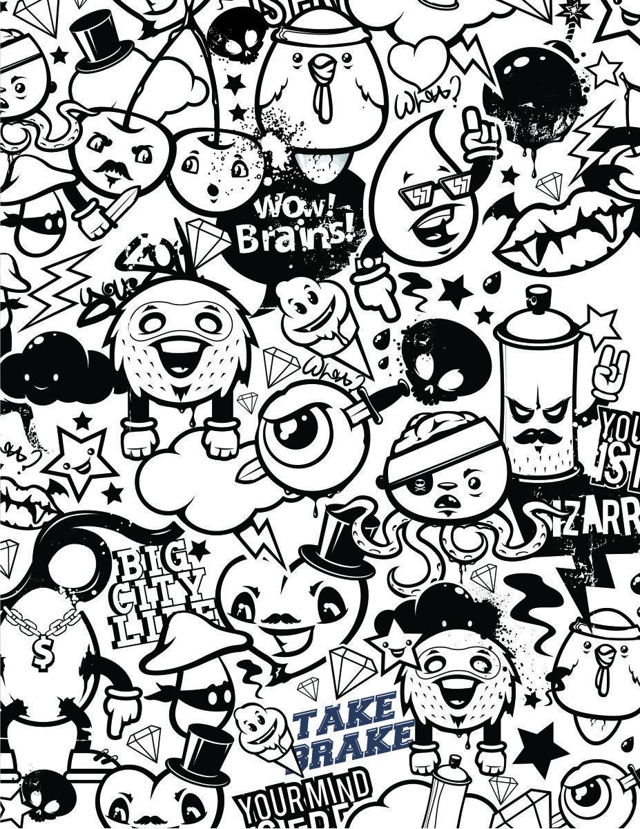Coloriage Emoji Mandala.Graffiti Coloriage Emoji Gestion Du Stress A Dessiner Gratuit