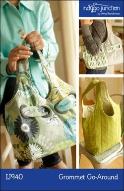 Grommet Go-Around purse sewing pattern from Indygo Junction.