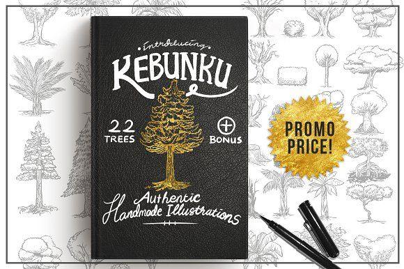 Kebunku Illustrated Tree Objects Tree Illustration Illustration Make Your Own Logo
