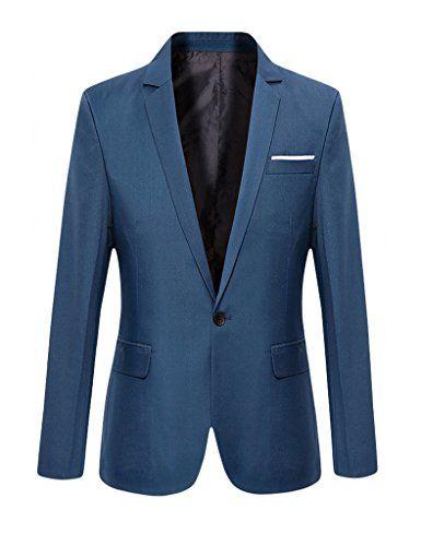 Herren mantel kurz blau