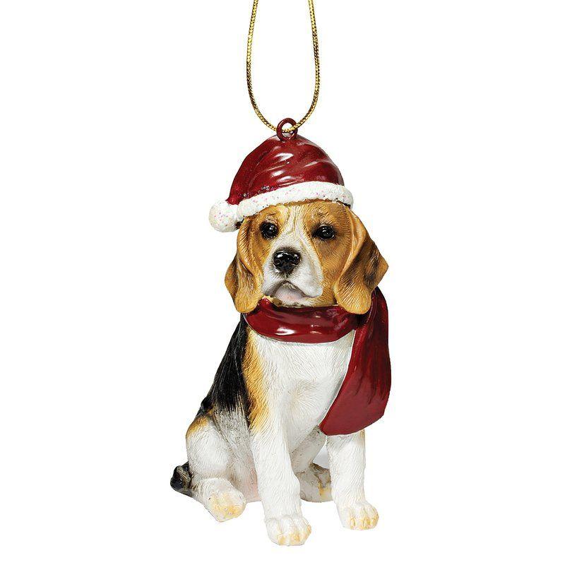 Beagle Holiday Dog Ornament Sculpture Dog Ornaments Beagle