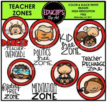Teacher Zones Clip Art Bundle {Educlips Clipart} | Clip ...
