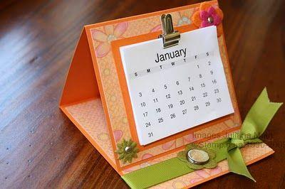 Julianas Obsessions Mini Desk Top Calendar For Mel Diy Desk