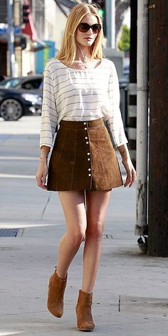 suede button front skirt - Google Search | Clothes - 1 - Insp ...
