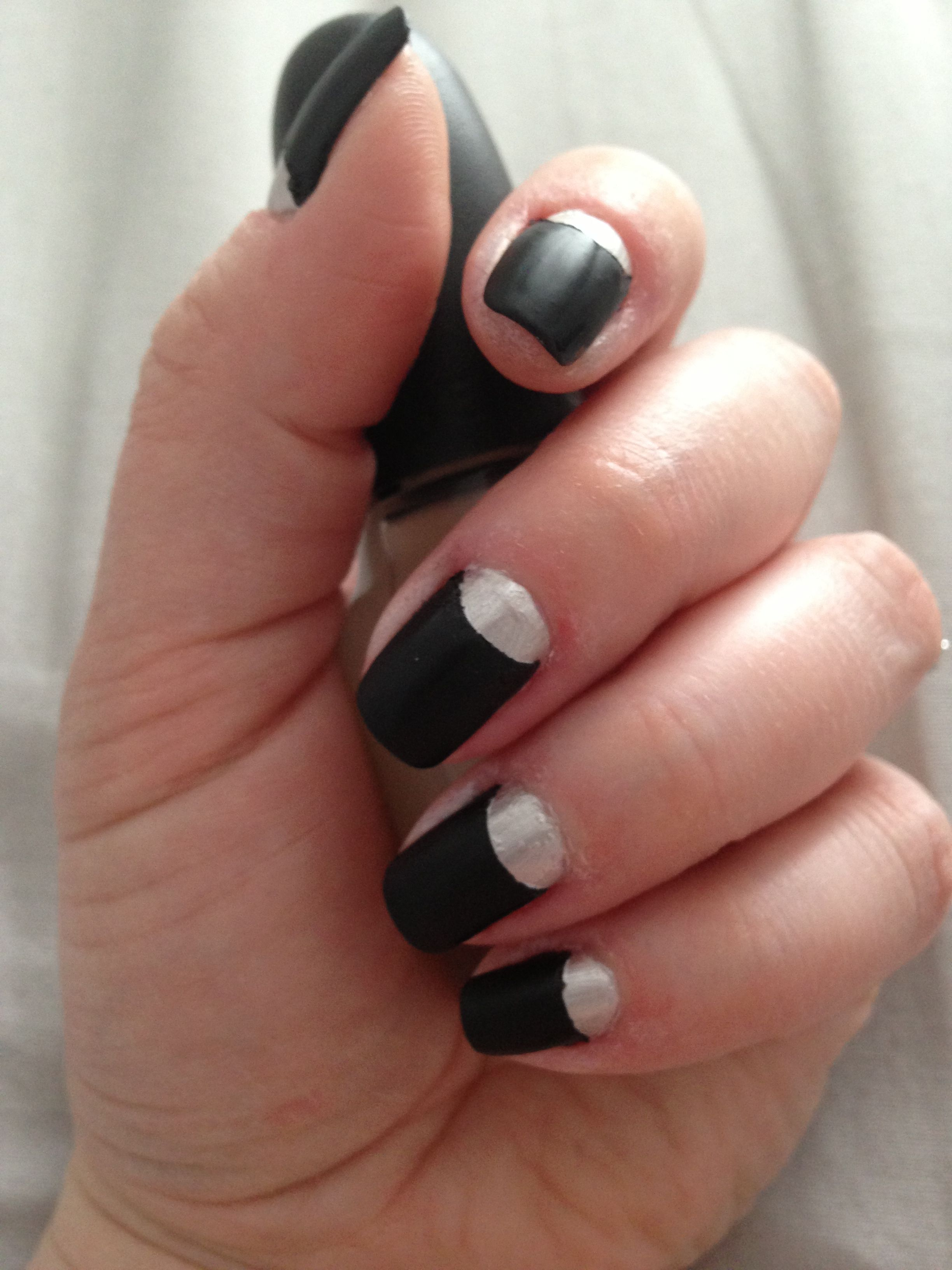 Reverse french nails manicure | New Nails | Pinterest | Reverse ...