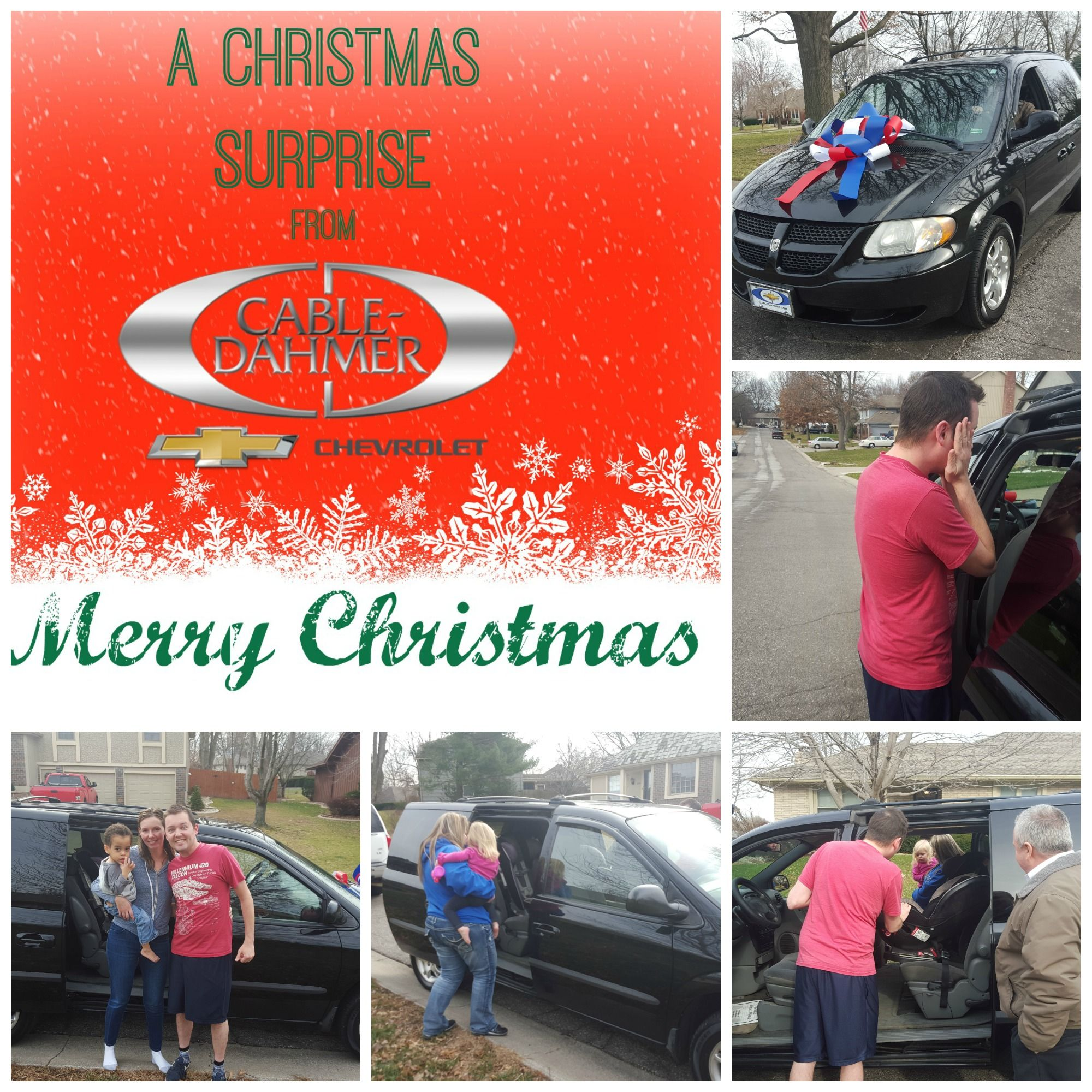 Big Christmas Surprise Cable Dahmer Chevrolet donated a Van for a