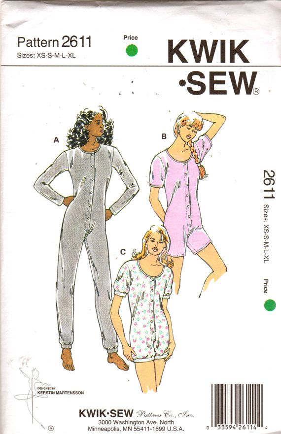 Kwik Sew 2611 Misses Scoop Neck Stretch Knit Jumpsuit Pattern