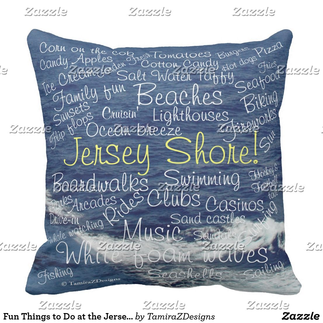 Create your own Throw Pillow Jersey shore