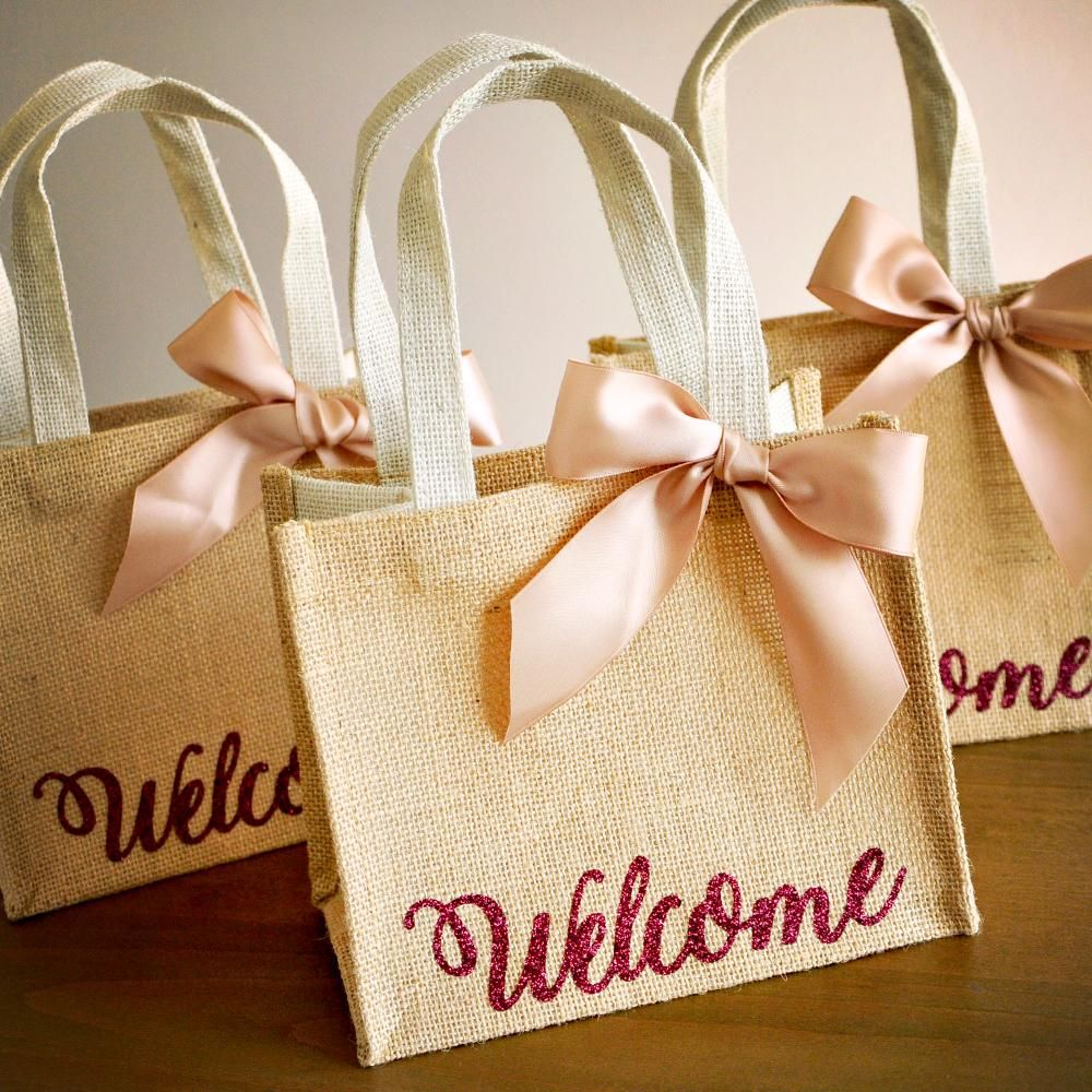 Welcome Gift Bags. Wedding Guest Gift Bag. Hotel Welcome
