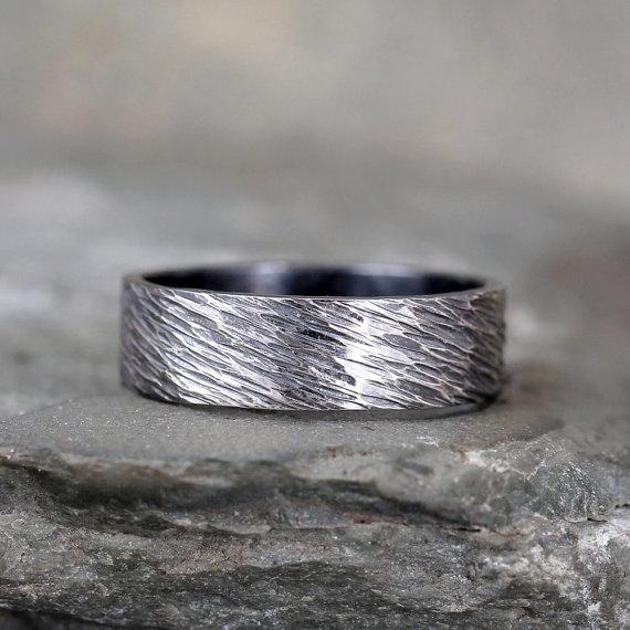 Bling Jewelry Bague Mixte en tungst/ène Noir 2/mm