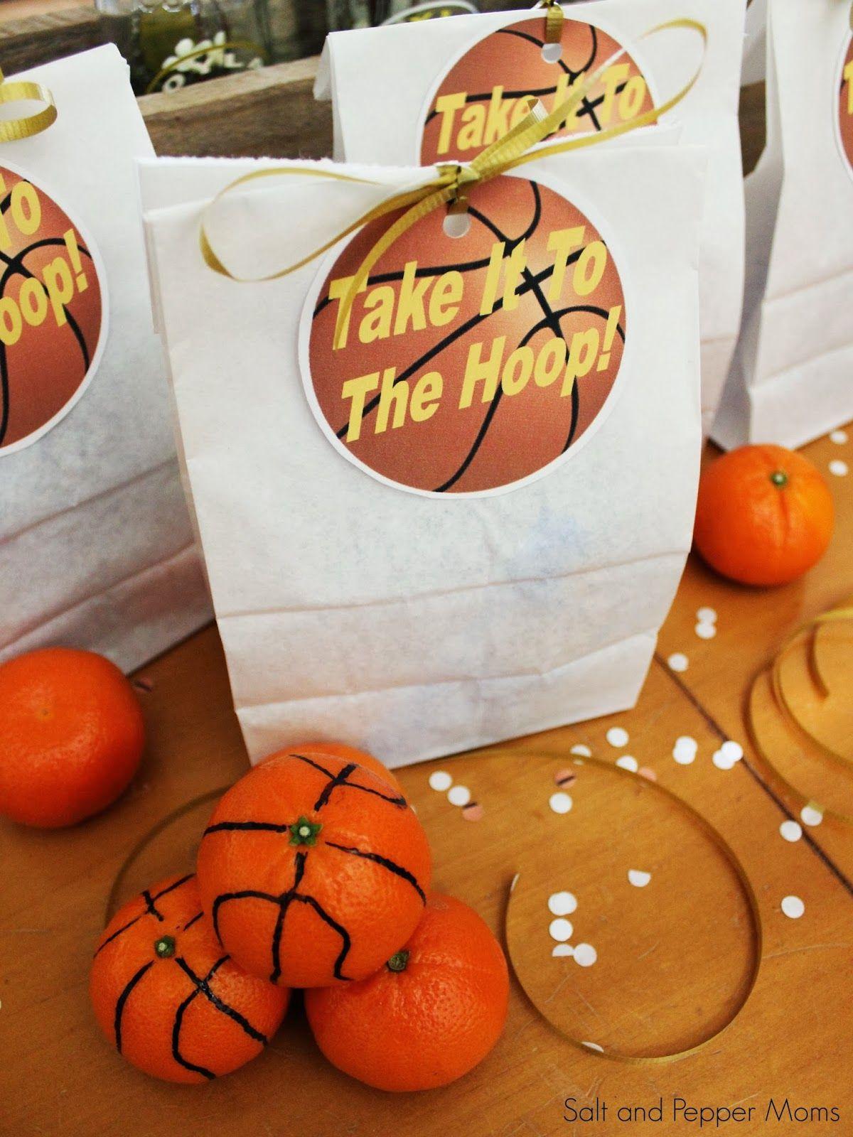 Basketball Snack Tags Printable