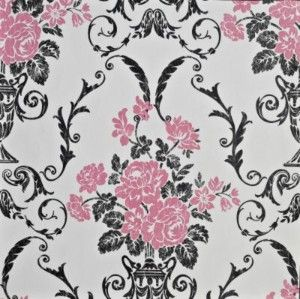 Living Walls Beatrice Pink & Black Wallcovering 10m - lloyd ...