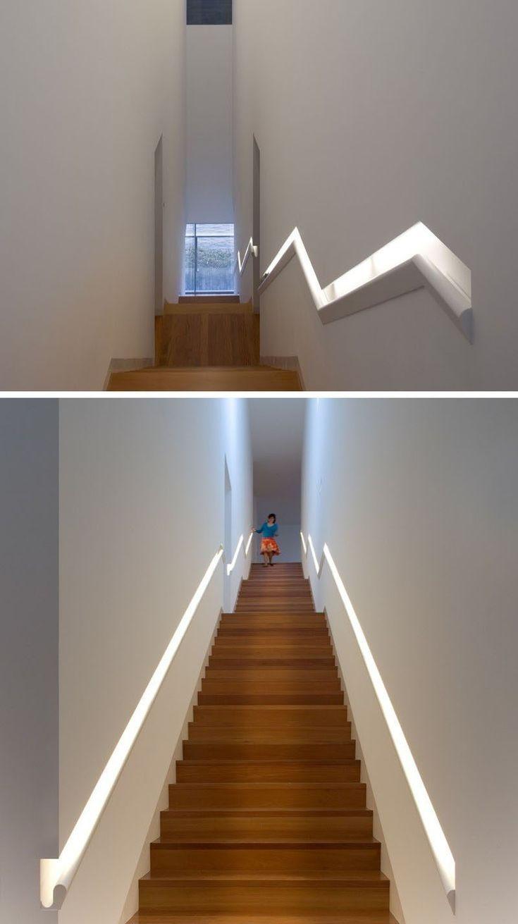 Stair Design Ideas 9 Examples Of Integrated Handrails Built Handrail Treppen Design Handlauf Treppe Handlauf