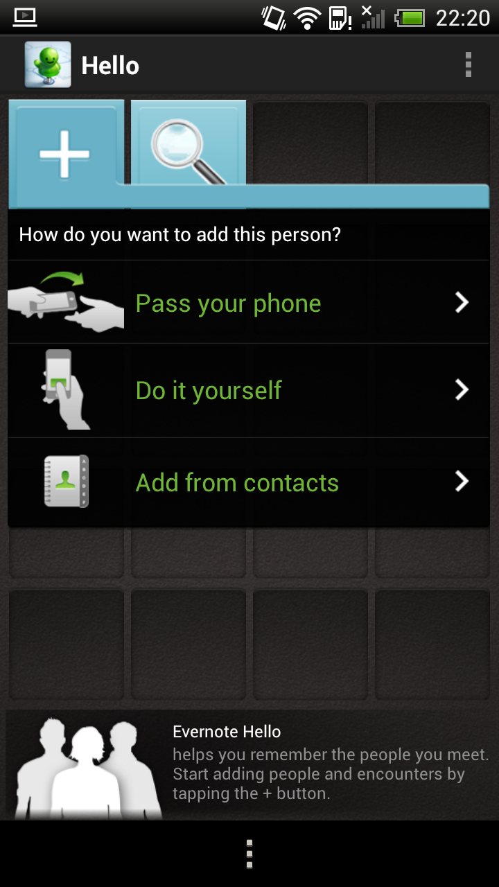 Evernote helps Android users remember new people with