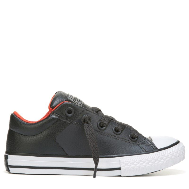 cc9adb145ef192 Converse Kids  Chuck Taylor All Star High Street Low Top Sneakers (Grey  Black Red) - 12.0 M